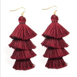 BaubleBar 4 Tiered Tassel Earrings • NWT